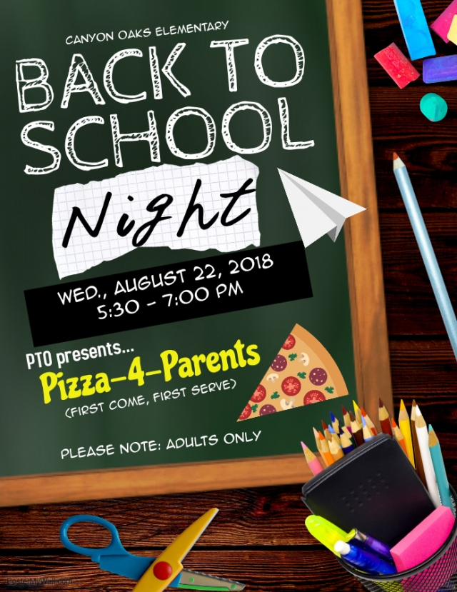 B2SN & Pizza 4 Parents flyer